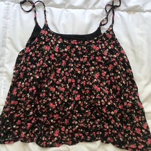 Floral forever 21 tank crop top